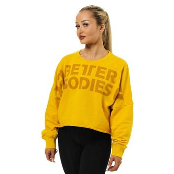 Bowery Cropped Raw Sweat Shirt Sweater