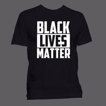 Black Lives Matter T-shirt (S-XXL Men & Women sizes/100% Ringspun Cotton Anvil Shirts)   ++ Includes a free RESIST button ++