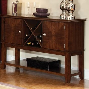 Standard Furniture Regency 52 Inch Sideboard in Sienna Brown