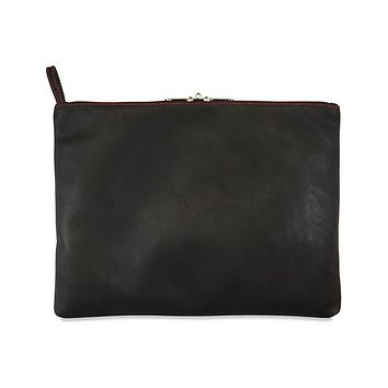 Sultra Leather Toy Bag W-lockable Pullers & Inside Pockets - Black