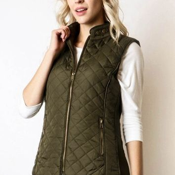 The Perfect Stitch Quilted Vest (+ More Colors!) FINAL SALE!