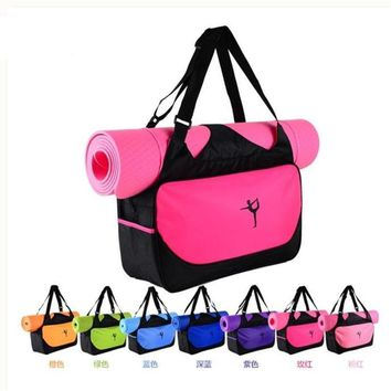 Camping Fitness backpack waterproof sports bag Custom printed logo not contain yoga mats