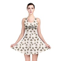 Autumn Leaves Motif Pattern Reversible Skater Dress