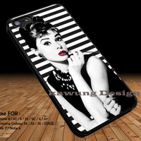 Audrey Hepburn Breakfast At Tiffany's DOP1215 iPhone 6s 6 6s+ 5c 5s Cases Samsung Galaxy s5 s6 Edge+ NOTE 5 4 3 #movie #actrees #adh