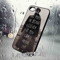 Sherlock Holmes Benedict Cumberbatch Quote - for iPhone 4/4S,5S,5C case iphone 4/4s/5/5S/5C Case Hard Plastic Cover