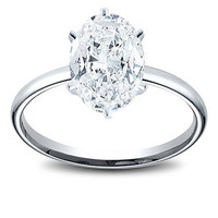 1.27 Ct Oval Cut Womens Diamond Engagement Ring - BAJSOL_CE4784