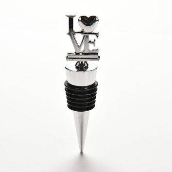Fashion Party Favors Creative LOVE Wine Bottle Stoppers Wedding Favors Bridal Shower Favors Wine Gift