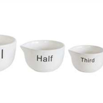 White Measuring Cups