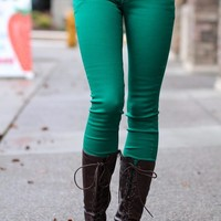 Your Green Skinny Jeans