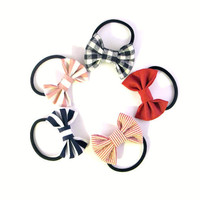 Any 2 Bow Scrunchies - ponytail holder - Choose your own colors