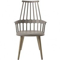 Kartell Comback Chair Four Wooden Legs from Kontenta | Made By Kartell | £408.00 | BOUF