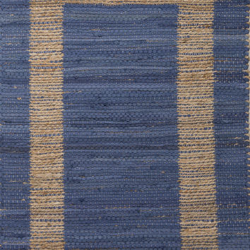 Jaipur Rugs Accent Naturals Pattern Blue/Taupe Jute and Cotton Area Rug PRP03 (Rectangle)