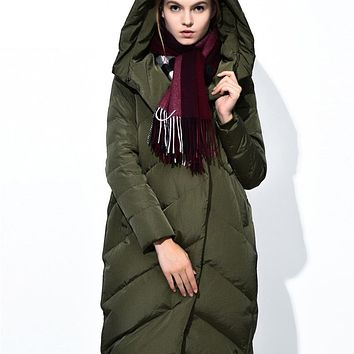 Hooded 2017 Ladies Long Winter Coat Cloak Women Ultra Plus Green Size Duck Elegant Jacket Womens Parka Puffer Coats Down Jackets