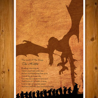 "The Hobbit - The Lord of the Rings  11X17"" poster"