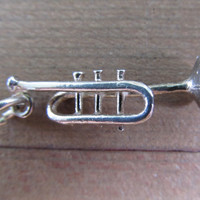 Sterling Trumpet Charm