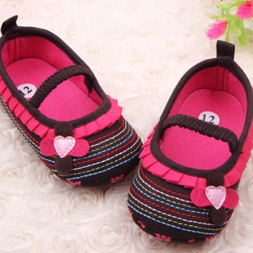 Soft bottom Bow Cotton Baby shoes