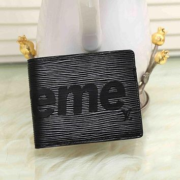 Boys & Men Supreme Leather Print Purse Wallet