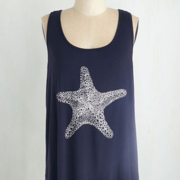 Nautical Mid-length Tank top (2 thick straps) Starring Role Top