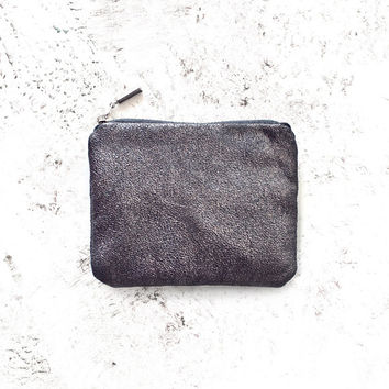 Charcoal Metallic Coin Purse No. CP-1006