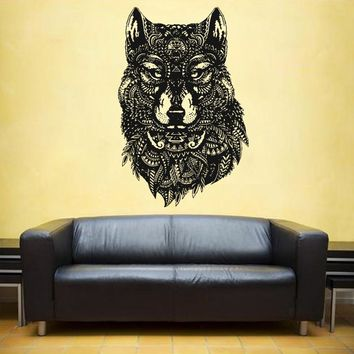 ik1097 Wall Decal Sticker head wolf predator animal forest living bedroom