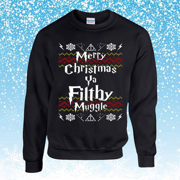 Harry Potter Ugly Christmas Sweater sweatshirt unisex adults