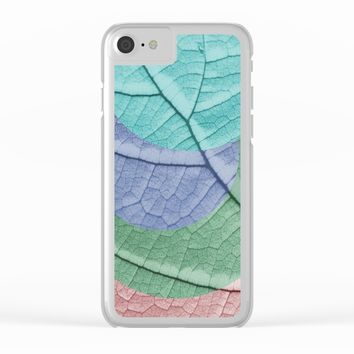 Pastel Leaf Collage Clear iPhone Case by ARTbyJWP