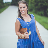 Bohemian Sundress in Blue