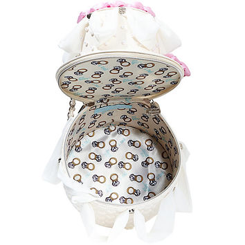 BETSEY BLUE WEDDING CAKE BAG: Betsey Johnson