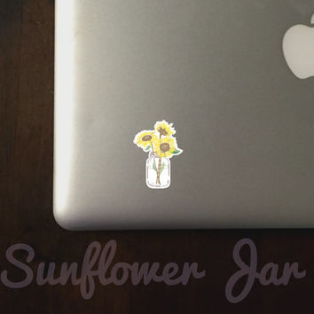 Sunflower Jar Sticker