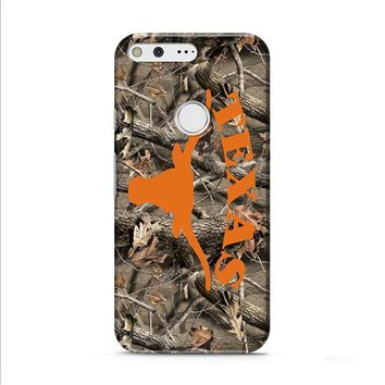 Texas Longhorns (camo branches) Google Pixel XL 2 Case