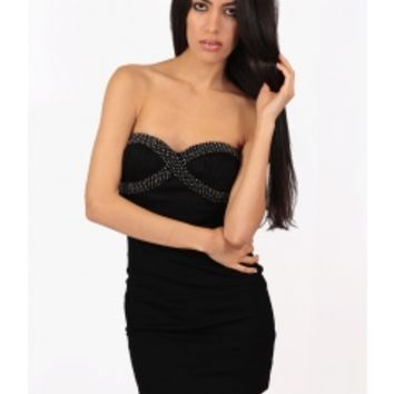 Black Strapless Milan Dress