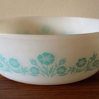 Sears Maid Of Honor Turquoise Casserole,  Blue Cornflower 2 Quart Casserole
