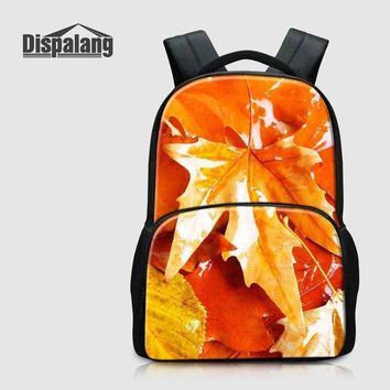 University College Backpack Dispalang New Arrival 17 inch Women   Student Bag Maple Leaves Print Laptop  For 12 To 14 inch School BagAT_63_4