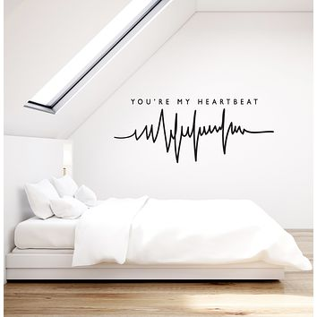Vinyl Wall Decal Love Quote Romantic Room Decoration Bedroom Stickers Mural (ig6049)
