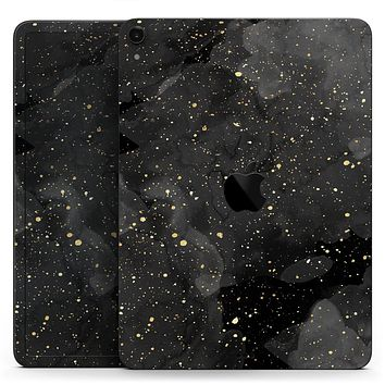"""Karamfila Watercolor & Gold V10 - Full Body Skin Decal for the Apple iPad Pro 12.9"""", 11"""", 10.5"""", 9.7"""", Air or Mini (All Models Available)"""