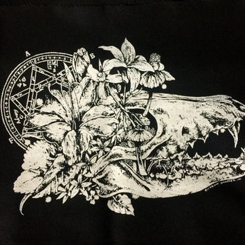 Flowerfull skull patch, patches
