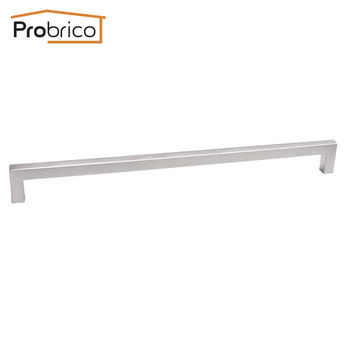 Probrico 12Mm*12Mm Square Bar Handle Stainless Steel Hole Spacing 320Mm Cabinet Door Knob Furniture Drawer Pull Pddj27Hss320