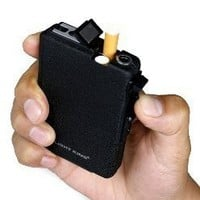 INFMETRY:: Automatic Dispensing Cigarette Case With Lighter