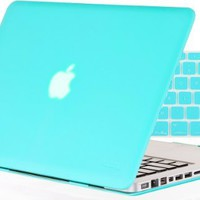 """Kuzy - 2in1 13-Inch Rubberized Hard Case and Keyboard Cover for MacBook Pro 13.3"""" (Model: A1278 with or without Thunderbolt) Glossy Display - Teal/Turquoise Hot Blue"""