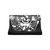 Jack Skellington Print Leather Designer Handbag Fashion Clutch Bag