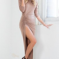 Found Love dress in taupe