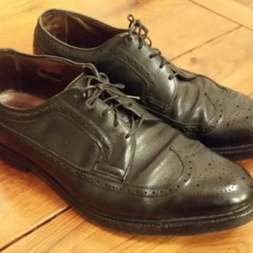Vintage Black Men's Wingtip Brogue Allen Edmonds O'Sullivan's Shoes Great Vintage Style