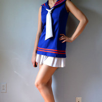 Paddle and Saddle 60s Mod sailor top/ tennis by dresseduplikealady