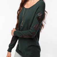 Reformed By The Reformation Pieced Leather Sweater