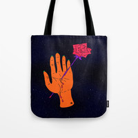 Wounded Hand // Space Tote Bag by duckyb