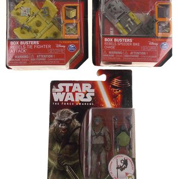 Star Wars The Force Awakens Hassk Thug Box Busters Rebels Tie Fighter Lot 3