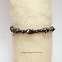 Magnetic Bracelet High Power Black Twist Beads, Drum Beads and 5000 Gauss Clasp