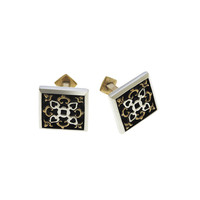Barnes Metalwork Antique Bronze Sterling Silver Cufflinks