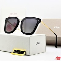 DIOR Hot Sale Summer Women Chic Casual Sun Shades Eyeglasses Glasses Sunglasses 4#