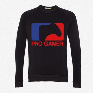 Proffesional Gamer fleece crewneck sweatshirt